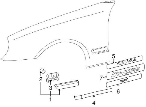 Exterior Trim Fender For 2000 Mercedes Benz Clk 320 Oemmercedes