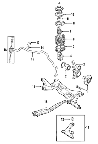 acura legend front suspension diagram