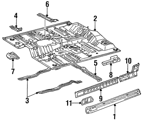 Reinforcement - Toyota (57486-89104)
