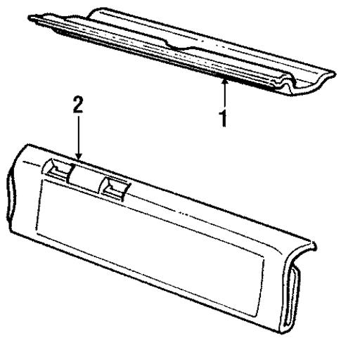 Oem Interior Trim Tail Gate For 1994 Chevrolet Caprice