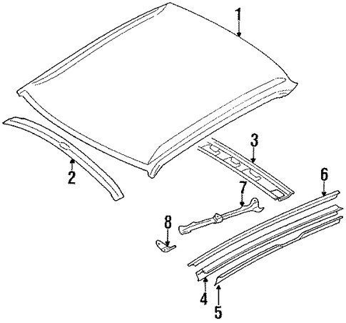 Roof Panel - Toyota (63111-12301)