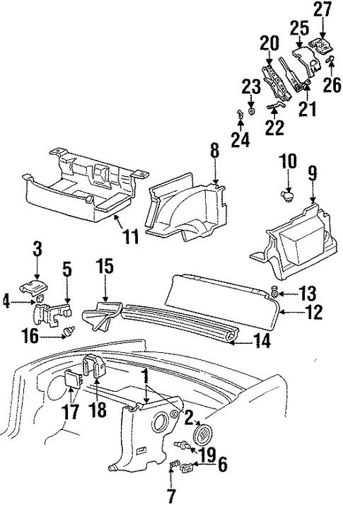 Oem Interior Trim Rear Body For 1999 Pontiac Firebird
