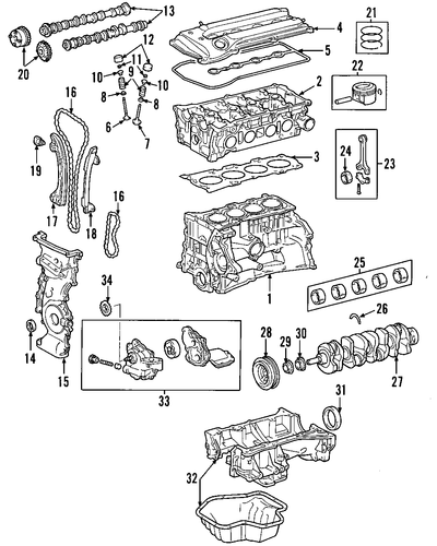 Crankshaft - Toyota (13411-28040)