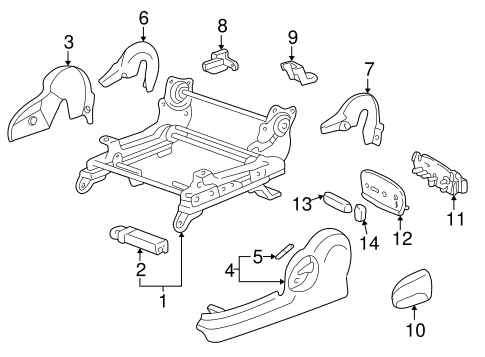 BODY/TRACKS & COMPONENTS for 2001 Toyota Solara #2