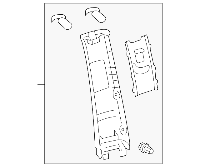 Upper Center Pillar Trim - Toyota (62412-08050-E0)