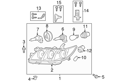 ELECTRICAL/HEADLAMP COMPONENTS for 2008 Toyota Camry #1