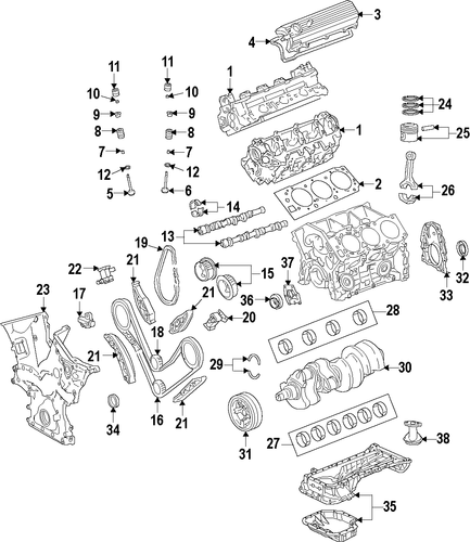 Timing Gear Set - Toyota (13080-0P040)