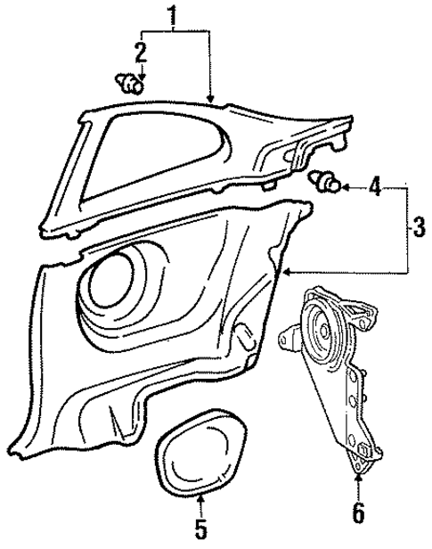 BODY/INTERIOR TRIM - QUARTER PANELS for 1998 Toyota Celica #1