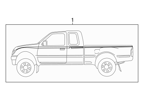 BODY/STRIPE TAPE for 1996 Toyota Tacoma #1