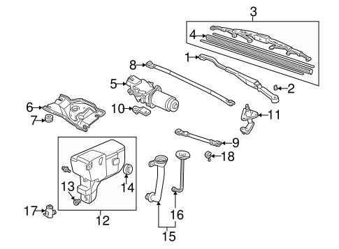 OEM Honda 76610-S2A-A02 - Wiper Arm