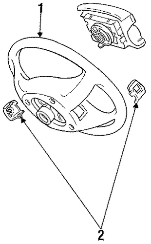 STEERING/STEERING WHEEL & TRIM for 1996 Toyota Camry #1