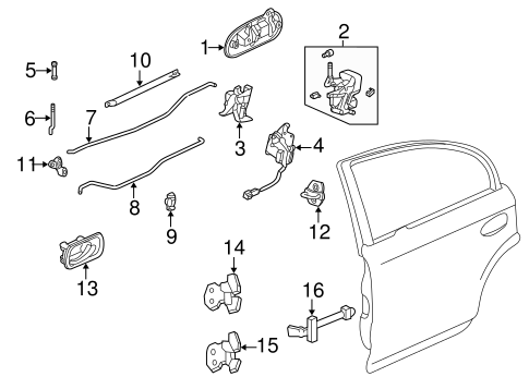 OEM Honda 67920-S01-A01ZZ - Hinge, R Rear Door (Lower)