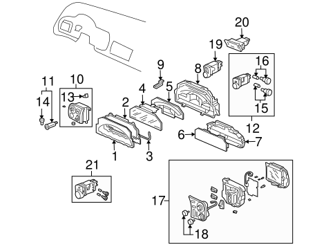 OEM Honda 78110-S2A-A13 - Case Assembly