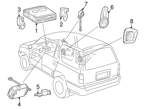 BODY/SOUND SYSTEM for 1996 Toyota 4Runner #1