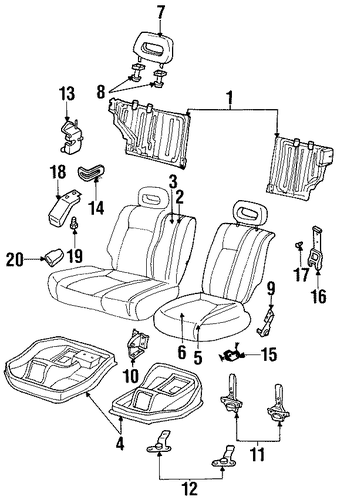 Headrest Guide - Honda (8-97159-702-3)