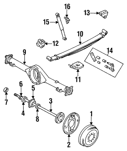 Shackle Kit - Toyota (04483-35070)