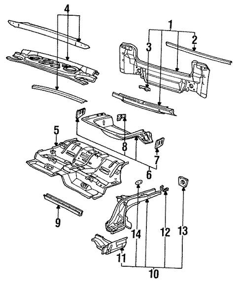oem rear body for 1994 saturn sl1