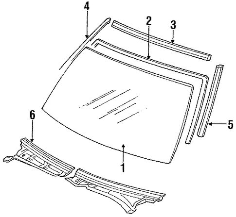Windshield - Toyota (56111-22590)