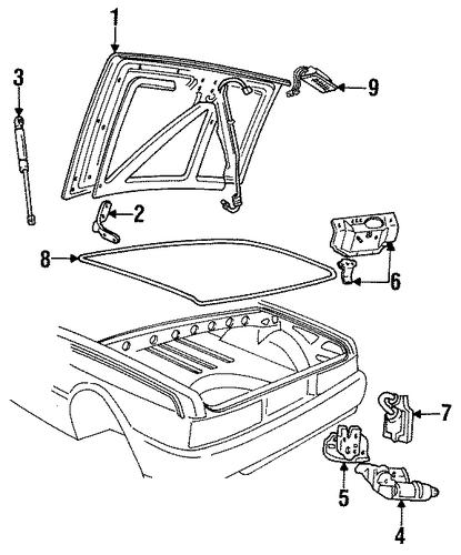 lid  u0026 components for 1993 cadillac allante