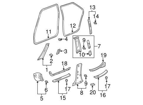Center Pillar Trim - Toyota (62420-AC050-E0)