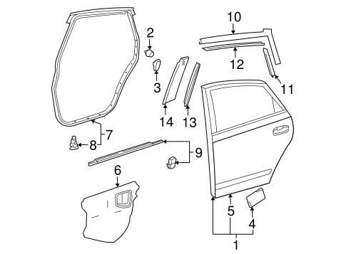 Door Shell - Toyota (67004-47060)