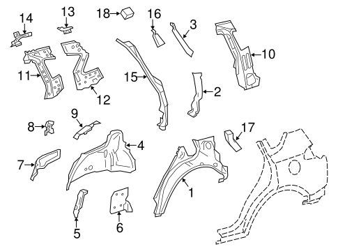 BODY/INNER STRUCTURE for 2015 Toyota RAV4 #1