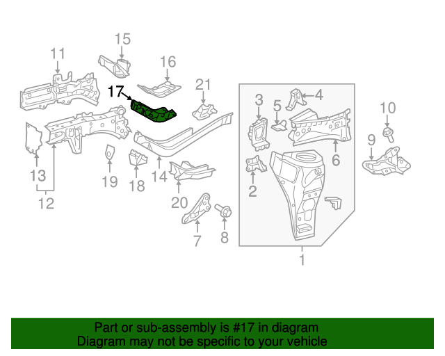 Support Bracket - Toyota (57246-74010)