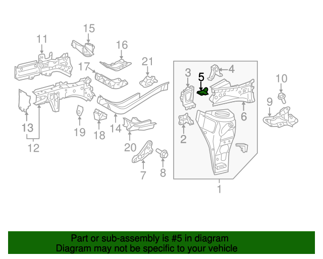 Apron Assembly Reinforcement - Toyota (53815-74010)