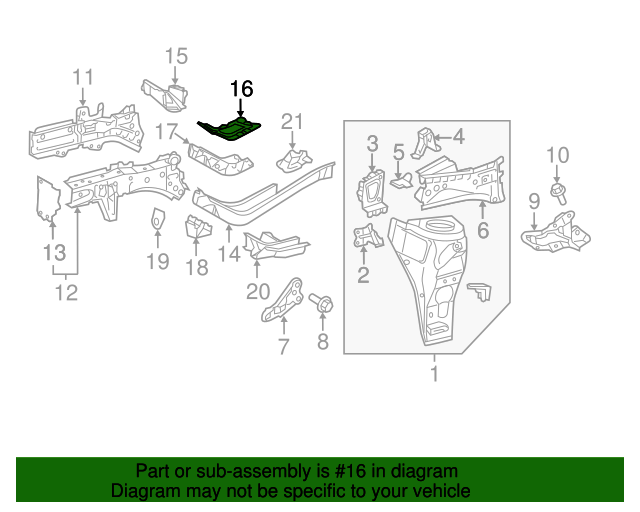 Rear Reinforced - Toyota (57145-74010)