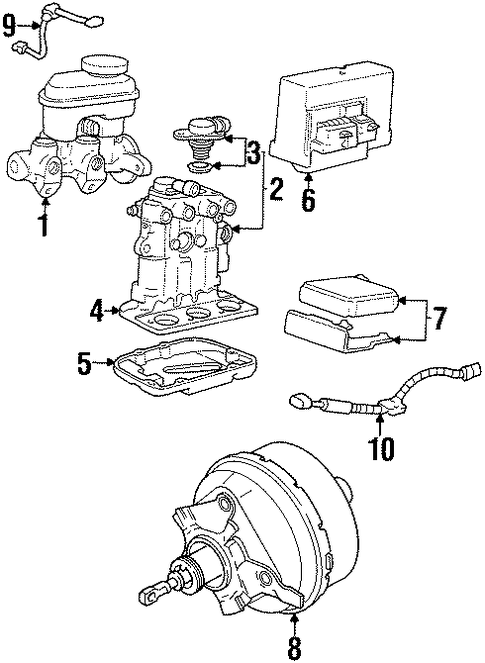 Oldsmobile Brakes Diagram : Oldsmobile intrigue engine diagram within