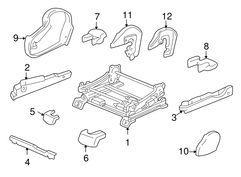 BODY/TRACKS & COMPONENTS for 2001 Toyota Tundra #1