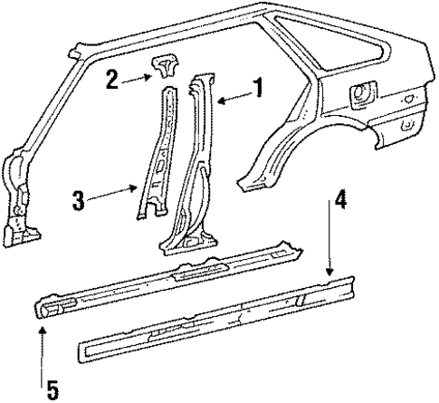 Center Pillar - Toyota (61344-12901)