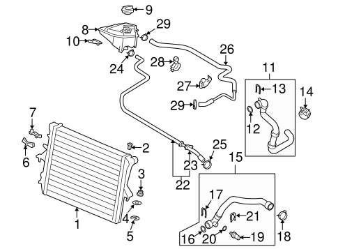 Radiator And  ponents Scat additionally Vw Pat Thermostat Location besides Audi A6 Timing Belt Wiring Diagrams together with Engine Vacuum Line Diagram also Audi Golf Cart. on audi 4 2l engine