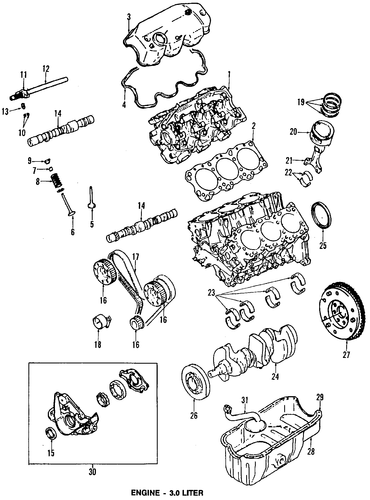 engine parts for 1992 chrysler lebaron