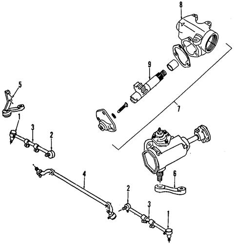 steering gear  u0026 linkage for 1984 dodge w150