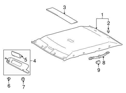 BODY/INTERIOR TRIM - ROOF for 1998 Toyota Camry #1