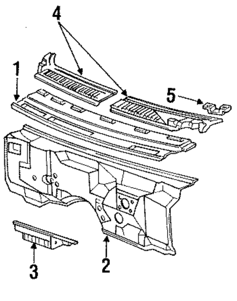 cowl parts for 1996 chevrolet caprice