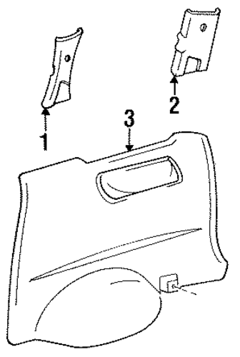 Upper Quarter Trim - Toyota (62471-95D04-03)