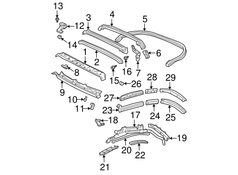 Weatherstrip Retainer Strip - Toyota (65933-AA010)