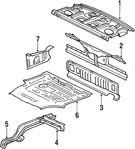 Panel Below Lid - Toyota (58381-22040)