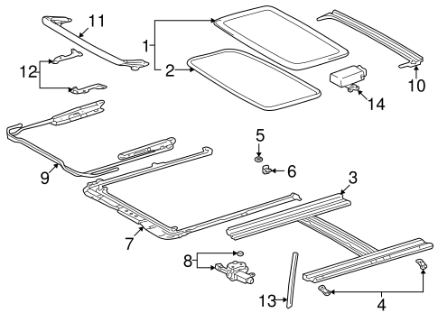 Guide Rail Bracket - Toyota (63241-02020)