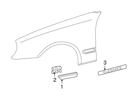 Exterior Trim Fender For 2003 Mercedes Benz E500 Oemmercedes