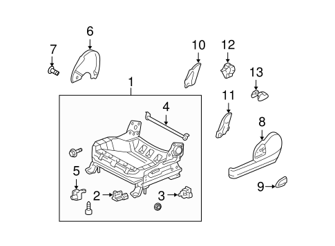 ELECTRICAL/AIR BAG COMPONENTS for 2004 Scion xA #2