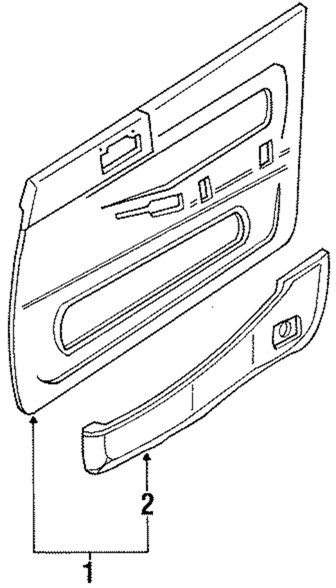 Door Trim Panel - Toyota (67610-2A880-02)