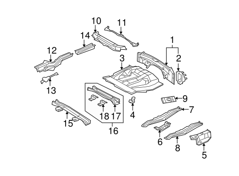 Floor Crossmember - Toyota (57605-48040)