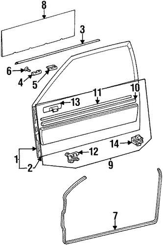 Exterior Trim Door For 1998 Mercedes Benz Cl500 Oemmercedes