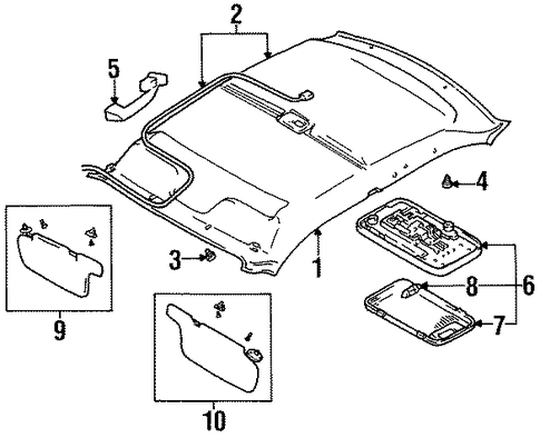 Gm Headliner 84173148 moreover 15075507 besides 1966 Chevy Caprice likewise Interior Trim Roof Scat together with 25868388. on chevy headliner replacement