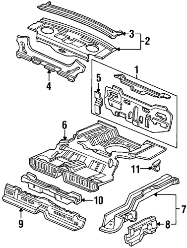 OEM Honda 65640-SF1-A01ZZ - Extension