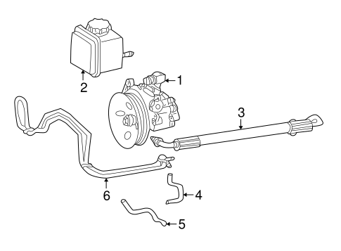 Mercedes Benz Power Steering Hose