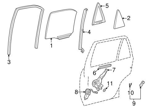 BODY/REAR DOOR for 2002 Toyota Corolla #3